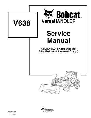 Bobcat V638 Versahandler Telehandler 2007 Edition Repair Service Manual 6904755