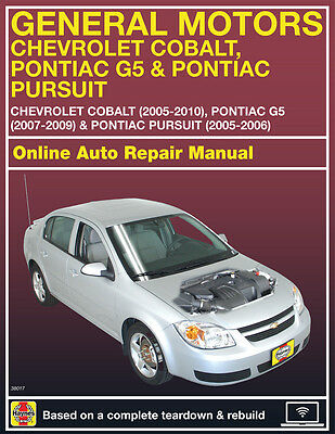 2006 Chevrolet Cobalt Haynes Online Repair Manual Select Access