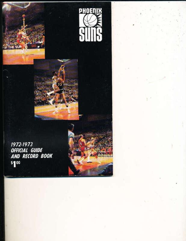 1972 - 1973 Phoenix Suns Media Press Guide Nbamg1