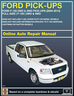 Haynes Online Repair Manual For 2004  2014 Ford F 150 Trucks 90 Day Access