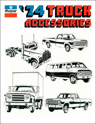 1974 Dodge Truck and Van Accessory Parts Catalog Illustrated Accessories