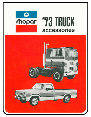 1973 Dodge Truck and Van Accessory Parts Catalog Illustrated Accessories