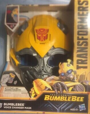 Transformers Bumblebee Voice Changer Mask Hasbro Adjustable Straps 5 Phrases