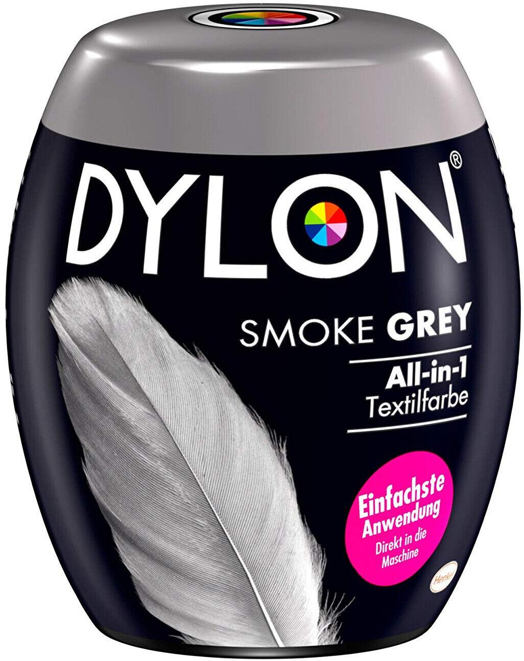 Dylon Smoke Grey AllIn1 Textilfarbe Umfärben in der Waschmaschine 350 g