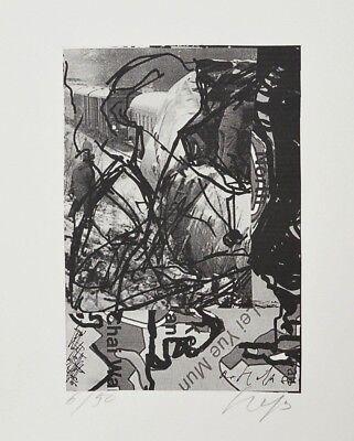 Original Grafik Multiples Abstrakt Reinhard Heß Trier handsigniert 30 x 21 cm