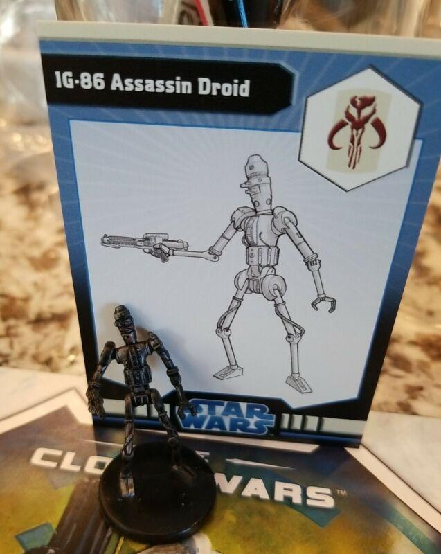 Star Wars Miniatures IG-86 Assassin Droid w/ Card mini RPG Legion #37