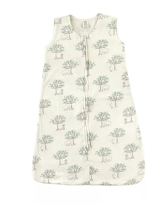 Touched By Nature Organic Cotton Sleeping Bag Baby Blanket, Birch Tree 6-12 M^