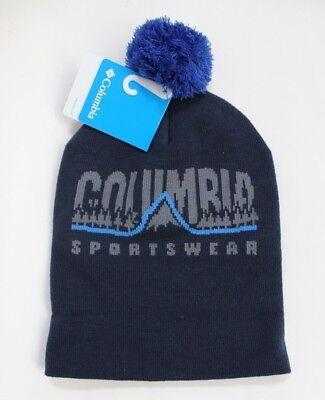fac9bf445ddb0 Columbia Sportswear Unisex Men Women Logo Beanie Hat Winter Pompom Blue One  Size
