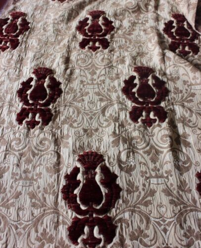Antique 18thC-19thC French Silk-Velvet-Linen Mix Fabric Panel~Stumpwork