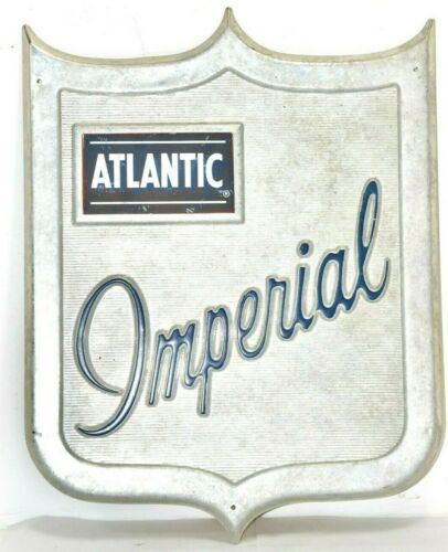 """ATLANTIC IMPERIAL CREST SIGN. 17"""" LONG X 13"""" WIDE"""