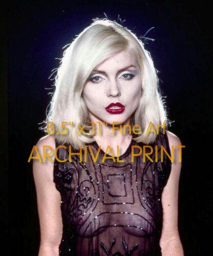 """See Thru DEBBIE HARRY Blondie SEXY ** ARCHIVAL LAB PREMIUM PHOTO (8.5"""" x 11"""")"""