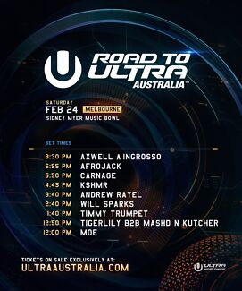 Road to Ultra Tickets X 2