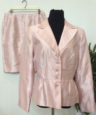 NWT Isabella Women's Career Blush 100% Polyester 2 Piece Skirt Suit Size 12