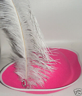 Hot Girl Halloween (New girl Baby Toddler PIRATE Halloween COSTUME hot pink Hat feather 12-24)