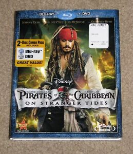 NEW Disney Pirates of the Caribbean on Stranger tides Blu-Ray DVD 2 Disc Set