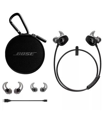 BOSE SoundSport Earbud Wireless Bluetooth Headphones Black Factory Renewed NIB