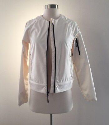 NWT New Balance for J.Crew softshell jacket ivory F6356 S