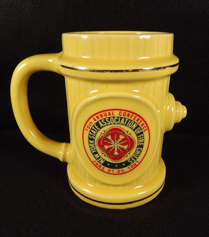 Fire Chiefs Stein Mug New York State 75th Annual Conference Commemorative 1981