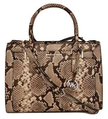 Michael Kors DILLON Top Zip Medium East/West Satchel Leather Handbag Bag $428