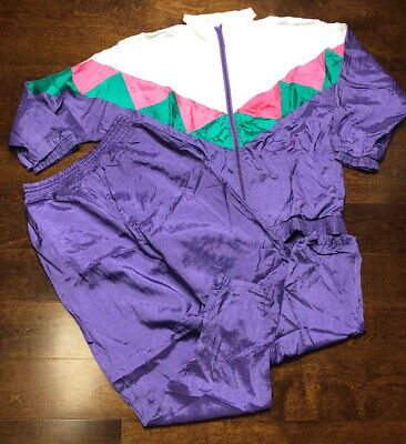 Vintage Track Suit by Blizzit Full Zip Jacket Purple Pants Women's  Size -