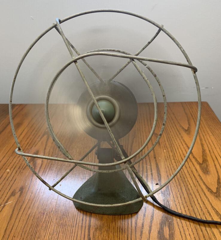 """Vintage A.C. Electric """"ZIP"""" Desk Fan Kwikway Co St. Louis NJ On. Z-155-0"""