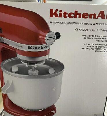 New! Kitchenaid  Ice Cream Maker Stand Mixer Attachment- MODEL KICA0WH