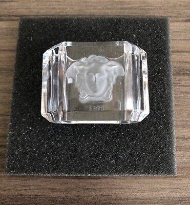 New In Box VERSACE ROSENTHAL MEDUSA NAPKIN RING Glass