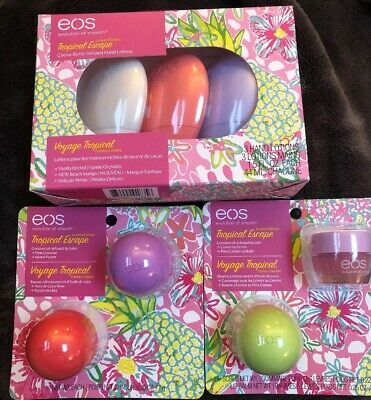 EOS Lot TROPICAL ESCAPE Lip Care BALM Scrub Lotion Wedding Bridal Favor Summer Lotion Wedding Favors