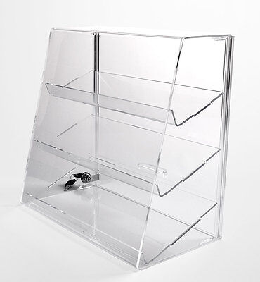 Clear Acrylic Display Case W 2 Shelves Locking Display Case Free Shipping