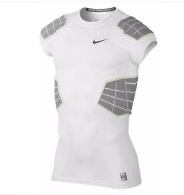 a7889b9840c25 NEW Nike Pro Combat Hyperstrong 4-Pad Shirt 631086-100 Football Men SZ XL