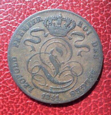 Belgique - Léopold Ier -  monnaie de  5 Centimes 1851