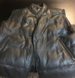 Mens xl Danier leather vest brand new