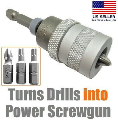 Drywall Screw Setter Sheetrock Countersink Dimpler Screw Gun Converter For Drill