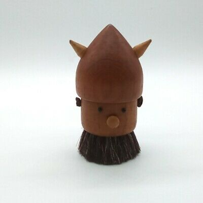 Vintage Original Scandinavian Wooden Novelty Viking Clothes Brush