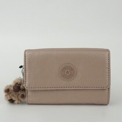 KIPLING PIXI Medium Trifold Wallet Rose Gold Metallic