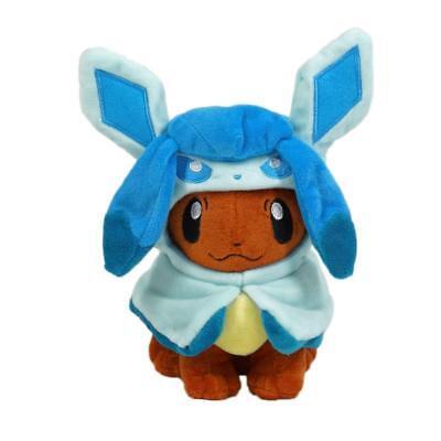 Kostüme Center (Pokémon Center Eevee Poncho Glaceon Kostüm Cape Weichem Plüschspielzeug Puppe Fi)