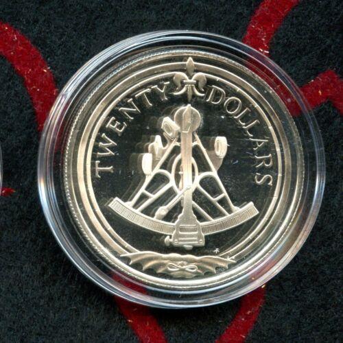 1985 $20 British Virgin Islands (Sextant) 925% Silver Issue #13