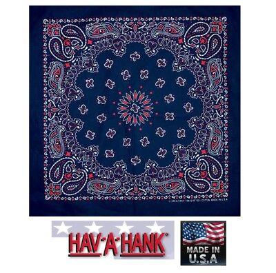 USA Gemacht Rot, Weiß & Blau Kopftuch America Paisley Schal Stirnband Halsband ()
