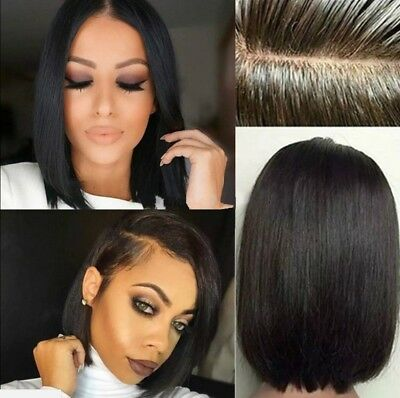 Best Short Bob Wigs 8A Brazilian Remy Human Hair Lace Front Wigs For Black