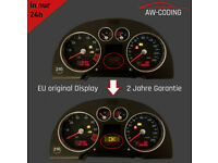 Reparatur Austausch FIS LCD MFA Display Audi TT 8N Tacho JAEGER Pixelfehler