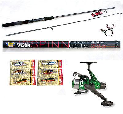 Vigor 6ft Spin Spinning Fishing Rod  & Sol Reel  6 Lures /plugs