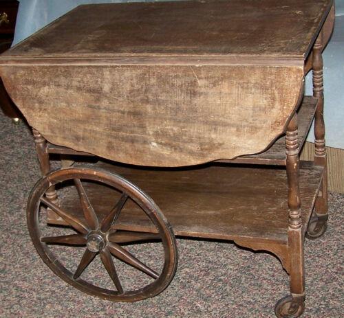 Antique wooden Tea Cart