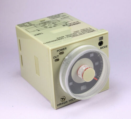 OMRON Timer, 8 Pin,  H3CR-A8 100-240VAC, 100-125VDC, 1.2 seconds to 300 hours