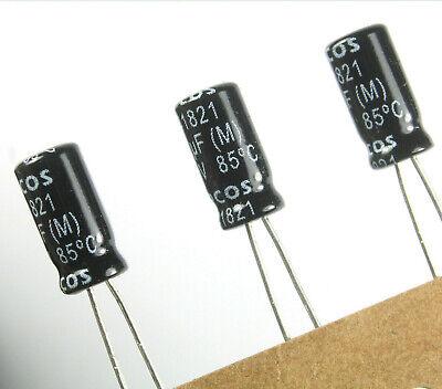 24pcs Epcos Radial Electrolytic Capacitor 1uf 100v