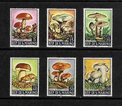 San Marino 1967 Fungi complete set of 6 values (SG 826-831) MNH