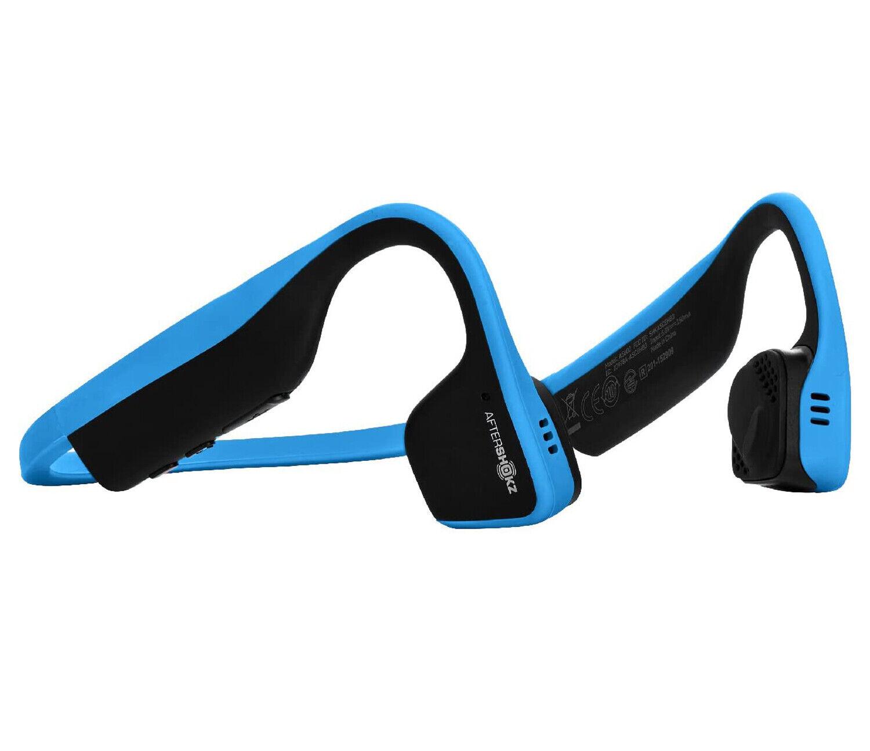 Aftershokz Titanium Blu Auricolare a Conduzione Ossea con Bluetooth Integrato