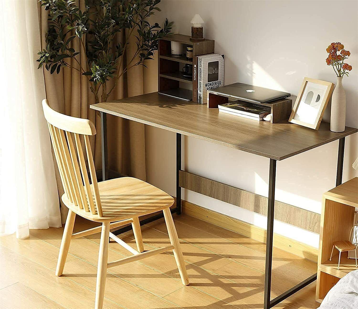 """39/47"""" Computer Desk with Monitor Riser 