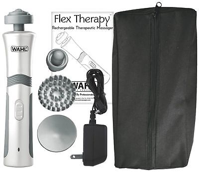 Wahl 4294-1101 Flex Rechargeable Flex Theraphy Massager with 4 Attachments