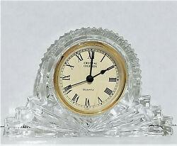 Crystal Legends by Godinger Mantle Clock 24% Lead Crystal