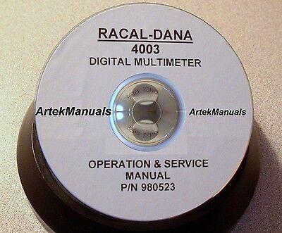 Racal-dana 4003 Digital Multimeter Manual Operating Service